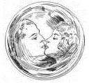 Lovers in a crystal ball. From Quick Action by Robert W. Chambers. Illus. Edmund Frederick.