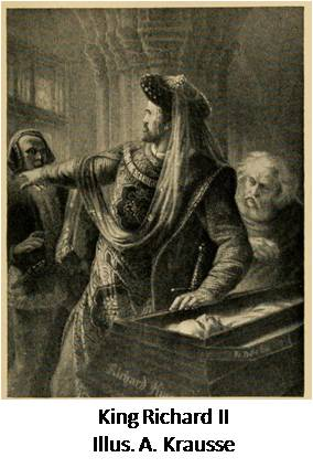 From Stories of Shakespeare's English History Plays by Helene Adeline Guerber. Illus. A. Krausse